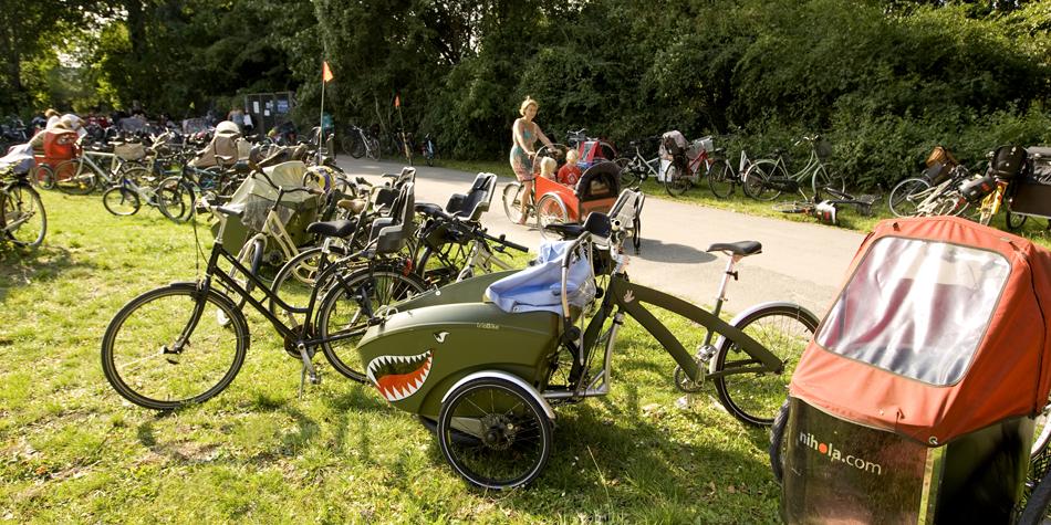 Cycles in Copenhagen park
